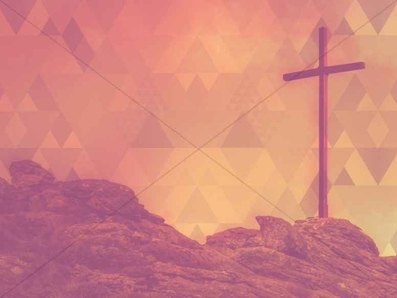 Cross Triangle Prism Christian Stock Photography