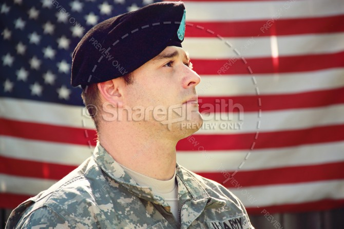 Support the USA Religious Stock Image