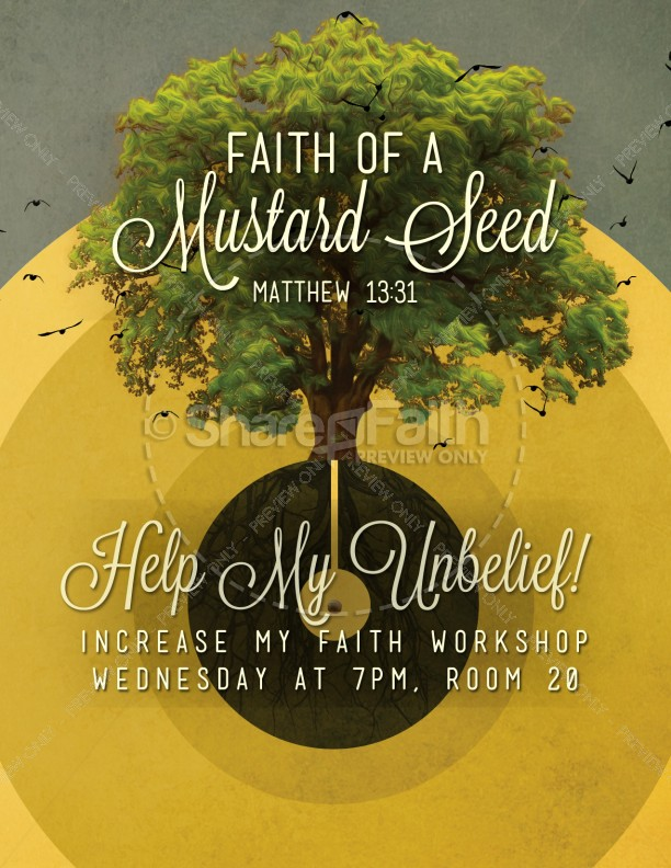 Faith Of A Mustard Seed Religious FLyer Template