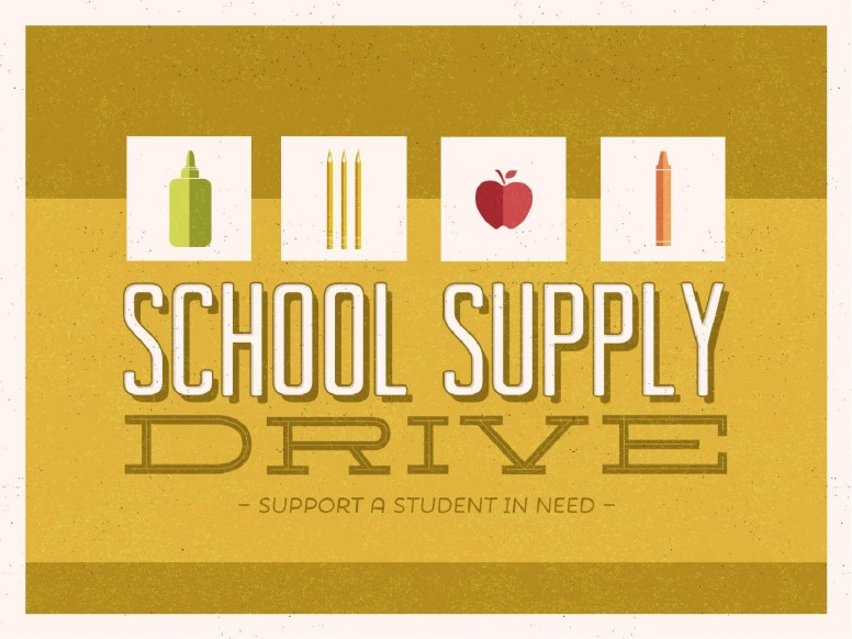 School Supply Drive Church PowerPoint