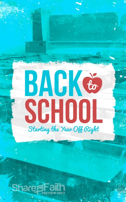 Back to School Christian Bulletin