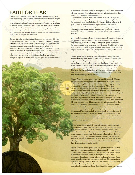 Faith of a Mustard Seed Religious Newsletter