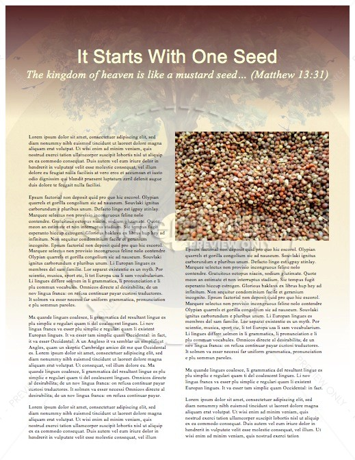 Faith of a Mustard Seed Religious Newsletter | page 3