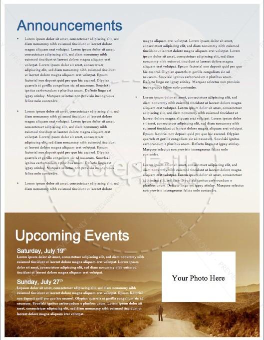 Summer Rolling Hills Landscape Religious Newsletter