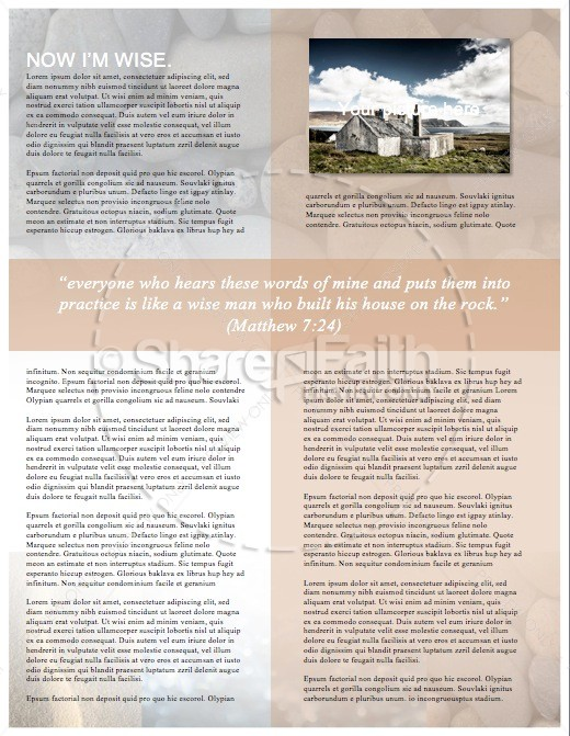 The Parable of the Wise and Foolish Builders Christian Newsletter