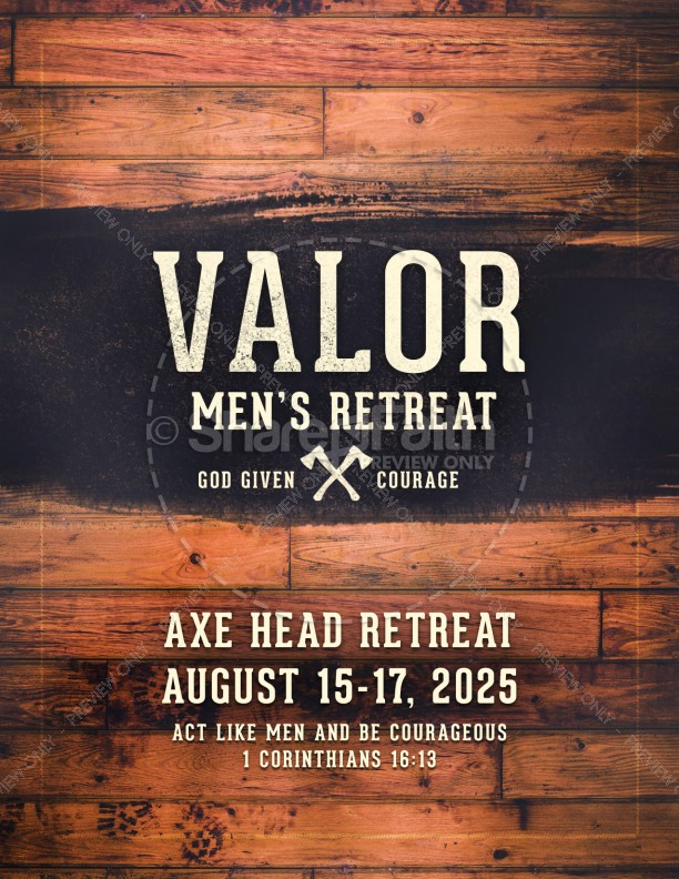 Valor Men's Retreat Ministry Flyer