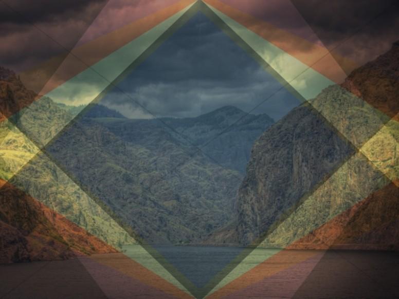 Landscape Diamond Frame Ministry Stock Image
