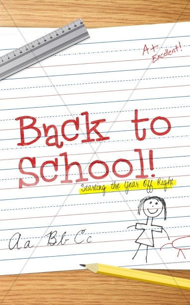 Back to School Starting the Year Off Right Christian Bulletin