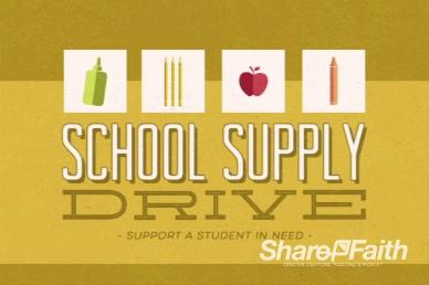 Kids School Supply Drive Graphics Video Loop