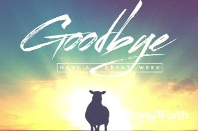 Psalm 23 Sheep Goobye Video Loop for Church or Events