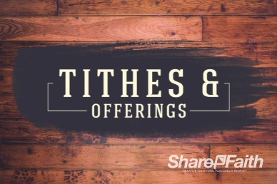 Wood Panel Vintage Tithes & Offering Video loop for church