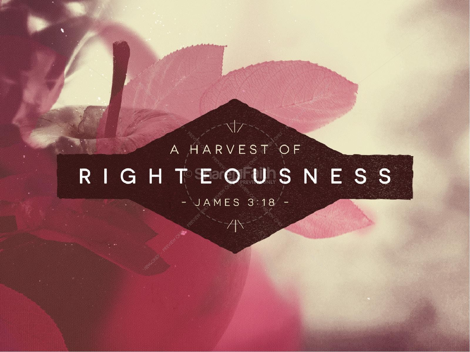 The Harvest of Righteousness Religious PowerPoint