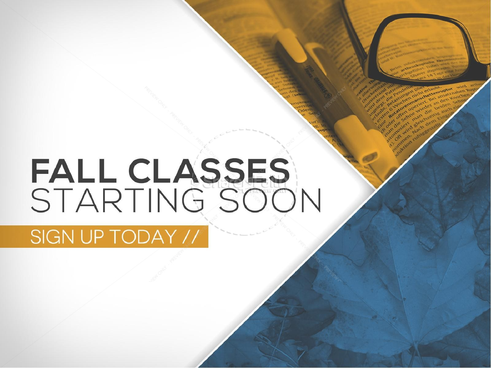 Fall Classes Starting Ministry PowerPoint