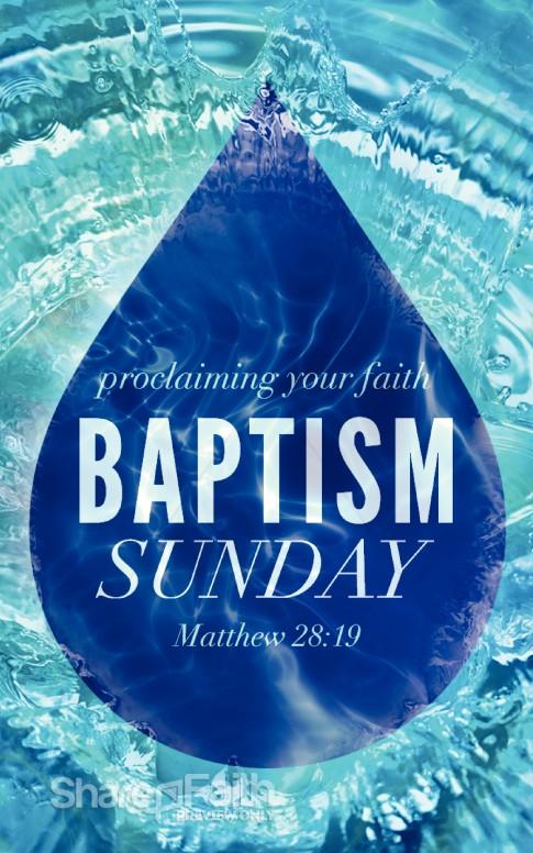 baptism sunday christian bulletin