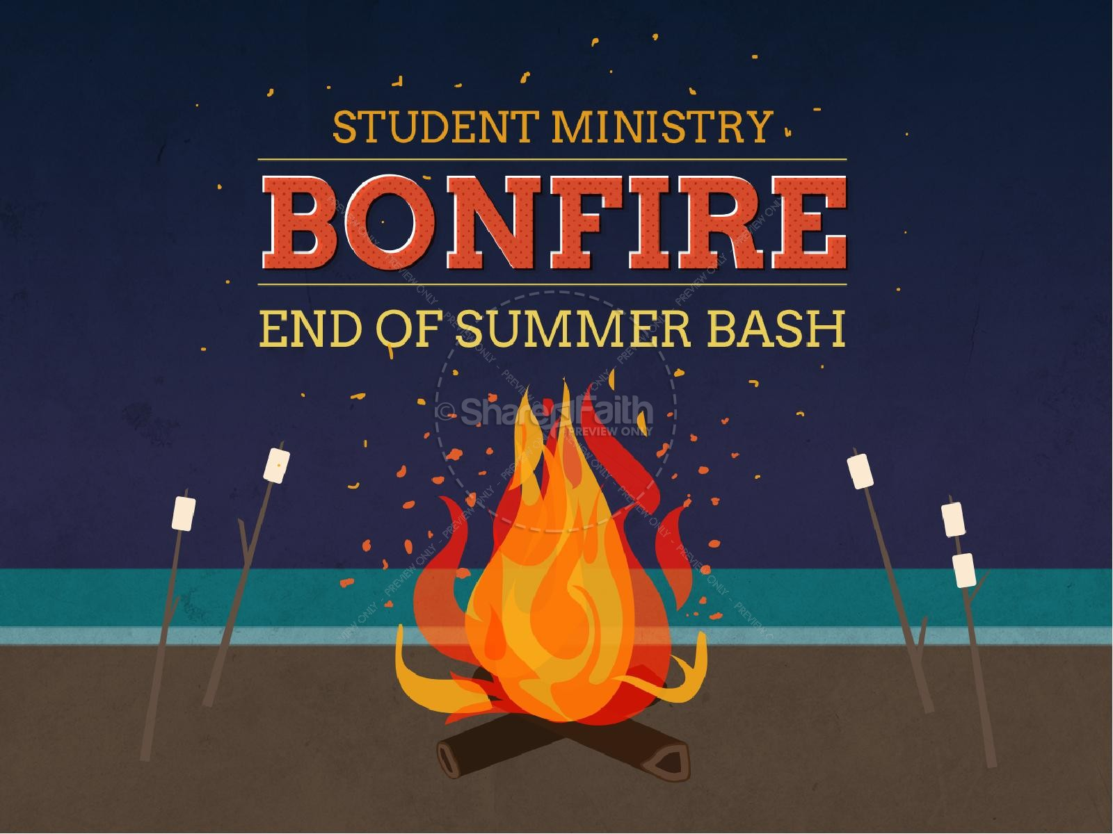Bonfire Summer Bash Christian PowerPoint