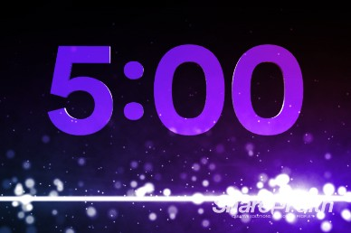 5 Minutes Dancing Particles Ministry Countdown Timer