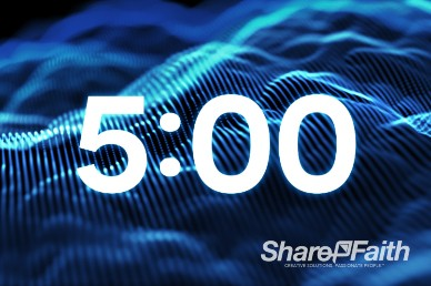5 Minute Particle Waves Ministry Countdown Timer