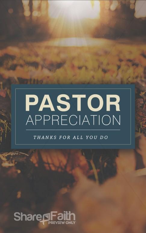 Pastor Appreciation Church Bulletin Sermon Bulletin Covers