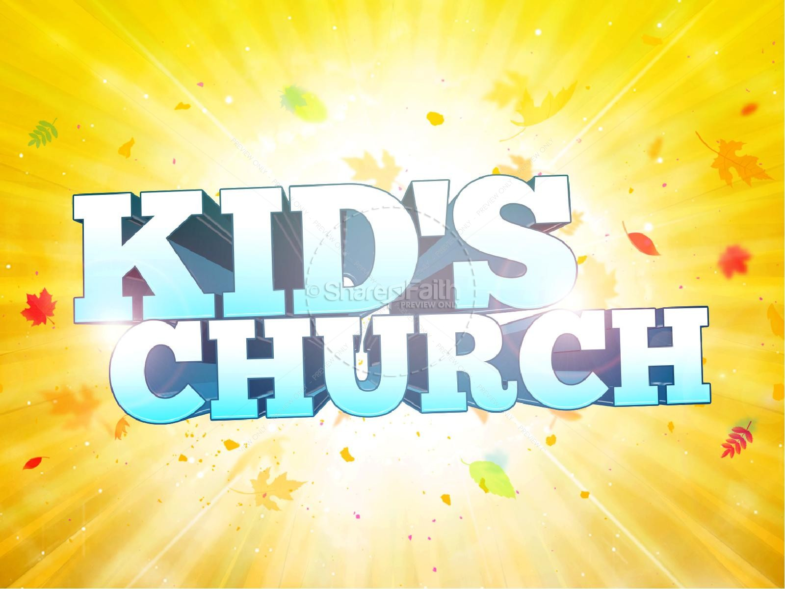 Kid's Church Religious PowerPoint