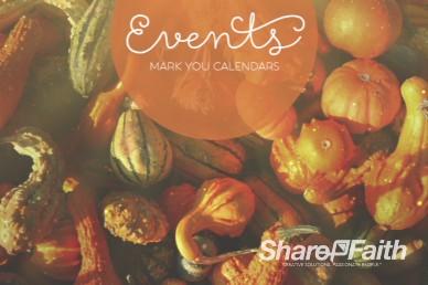 Harvest Party Religious Announcements Video