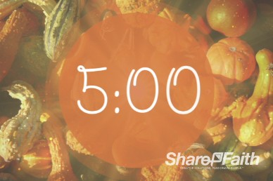 5 Minute Harvest Party Religious Countdown Timer