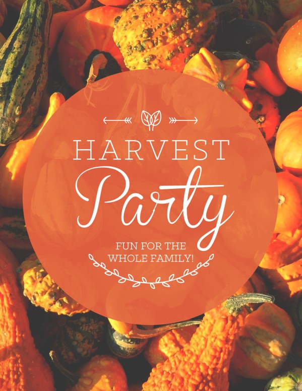 Harvest Party Religious Flyer