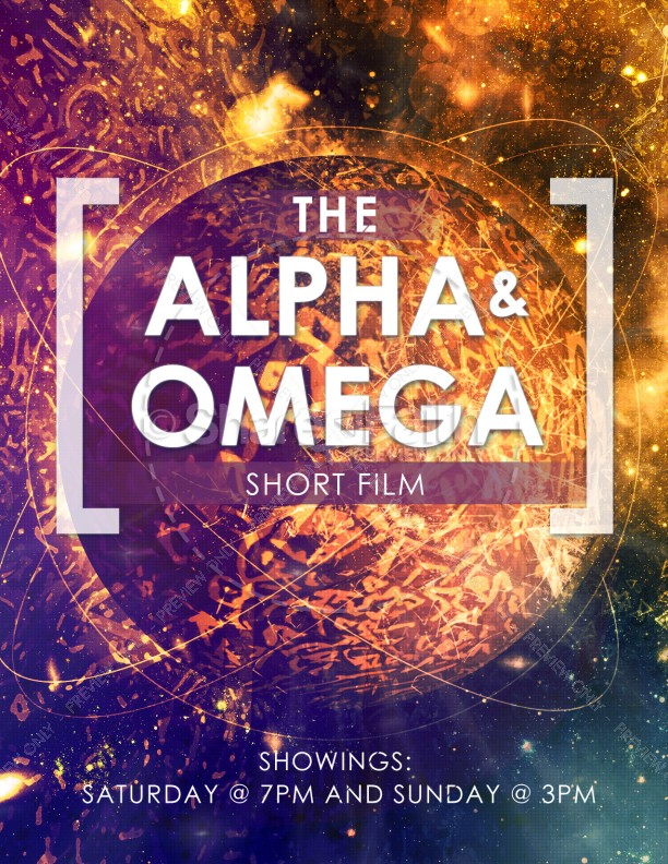 Alpha and Omega Religious Flyer