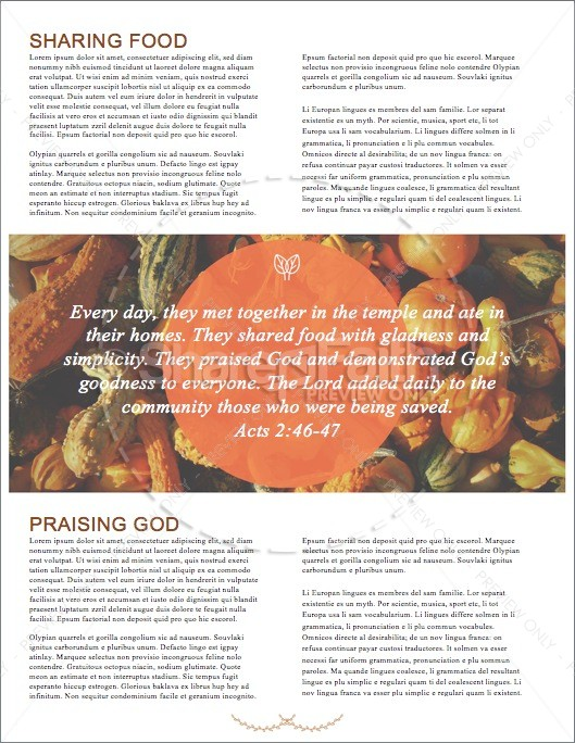 Harvest Party Christian Newsletter