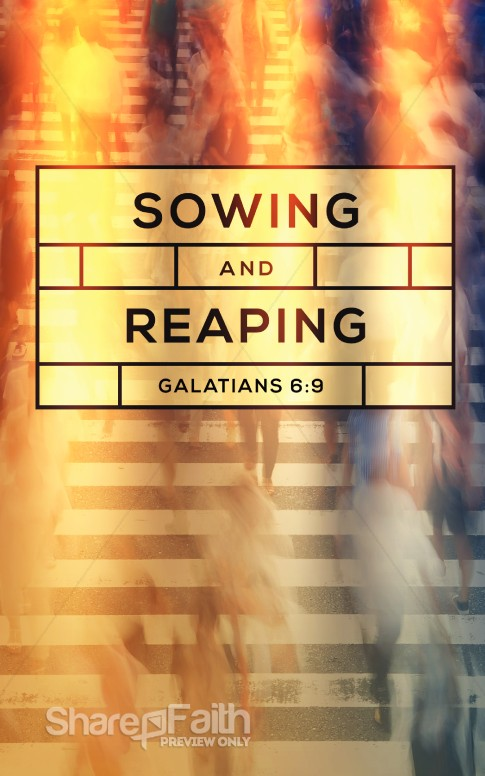 Sowing And Reaping Ministry Bulletin Harvest Fall Church