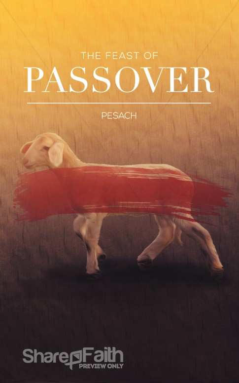 Feast Of Passover Christian Bulletin Sermon Bulletin Covers
