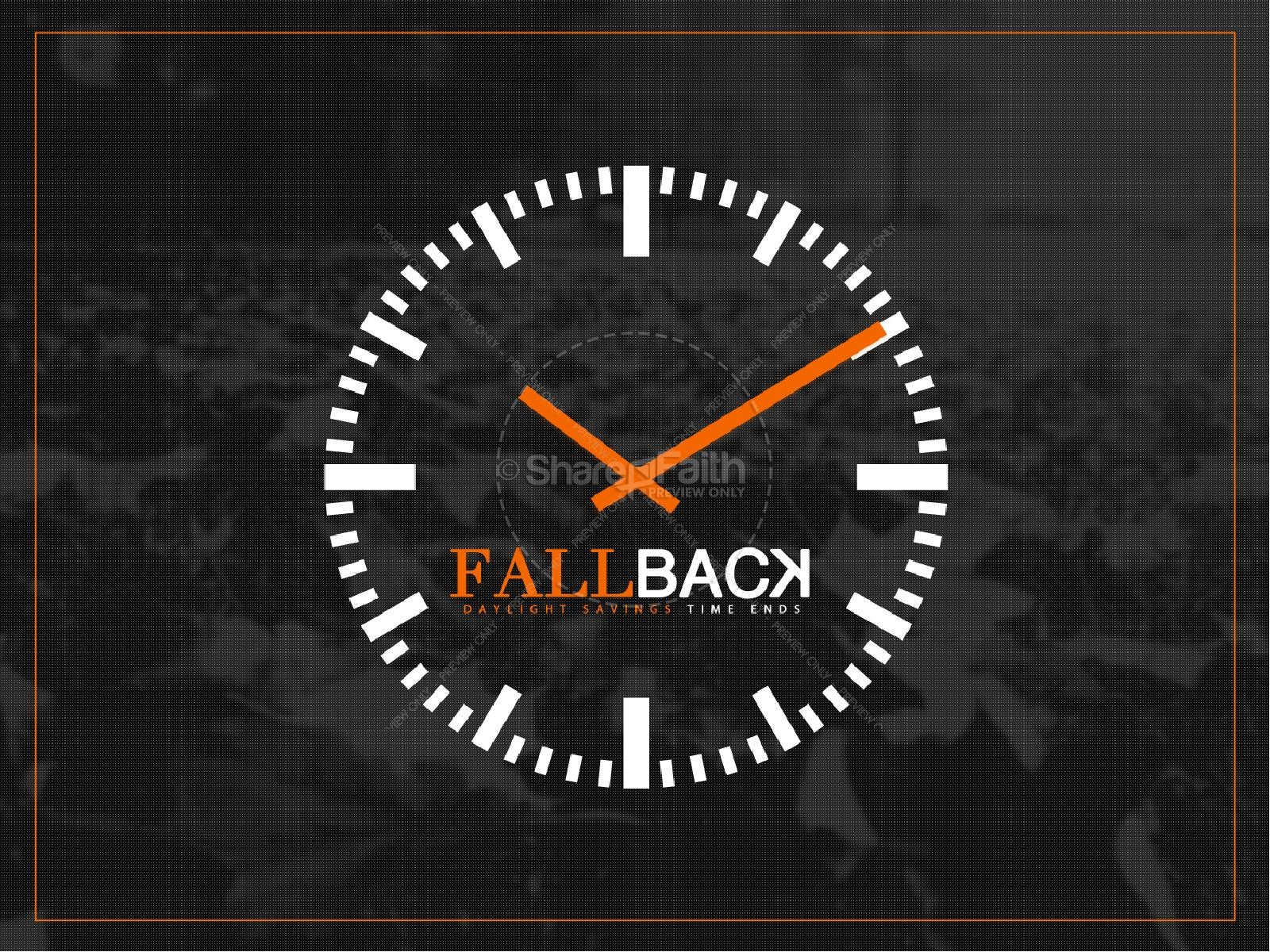 Fall Back Daylight Savings Ministry PowerPoint