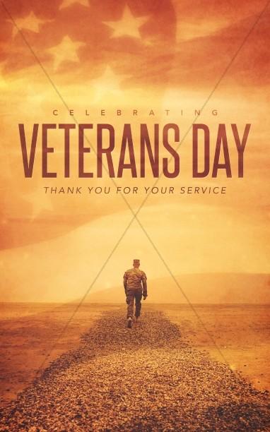 Celebrating Veteran's Day Christian Bulletin