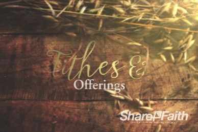 Joy of Harvest Church Tithes and Offering Video Loop