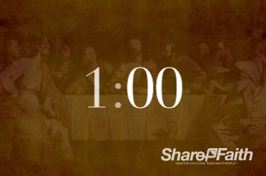 1 Minute The Lord's Supper Ministry Countdown Timer