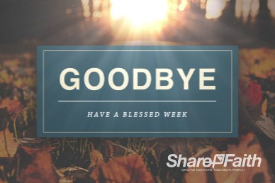 Pastor Appreciation Church Goodbye Video Background