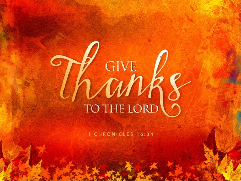 Give Thanks Christian PowerPoint Template