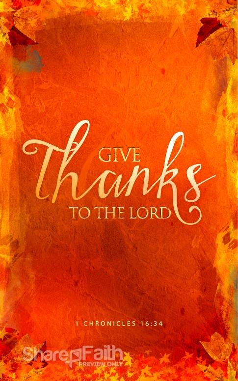 Give Thanks Christian Bulletin Thanksgiving Bulletins