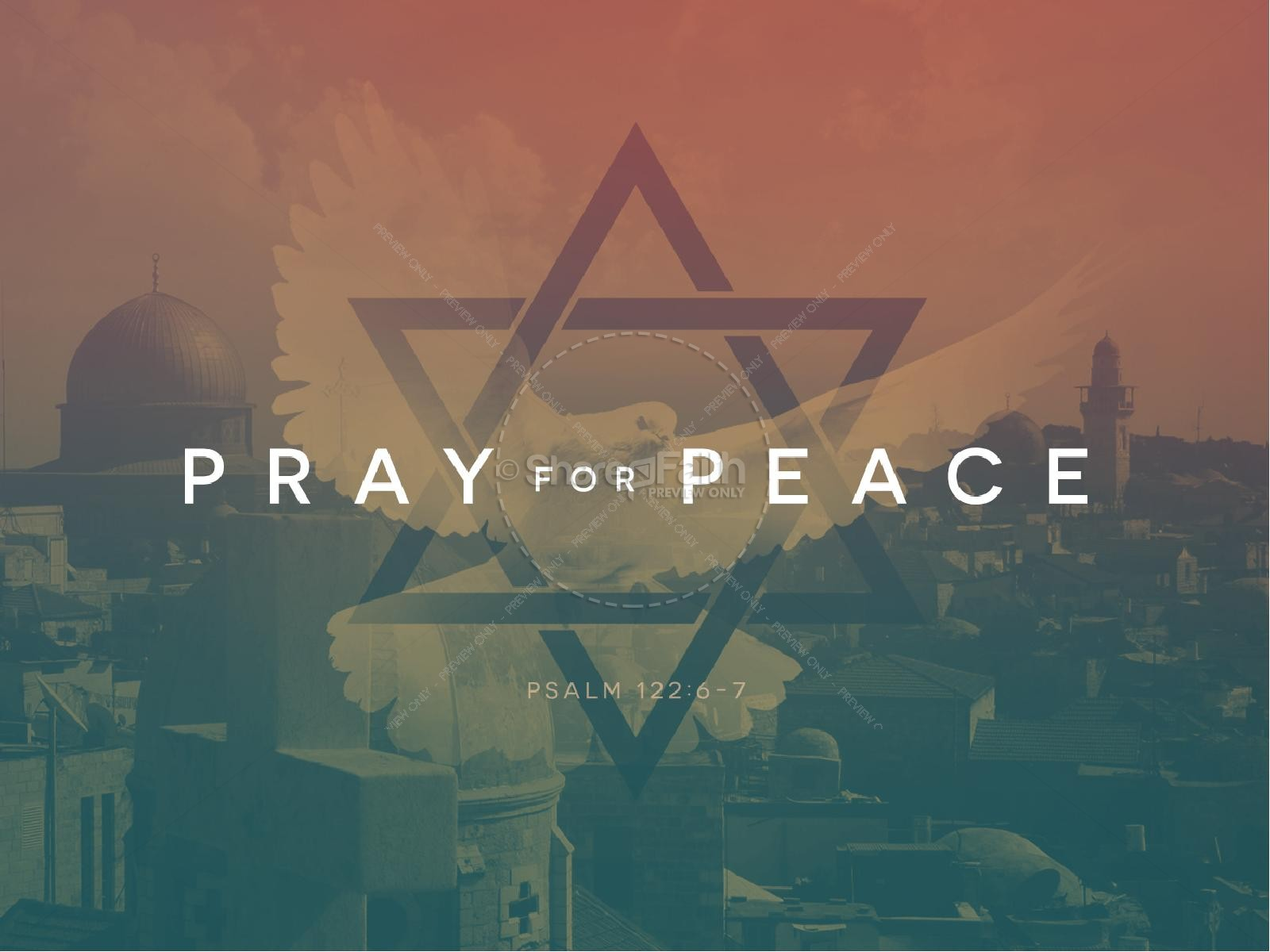 Pray for the Peace of Israel Religious PowerPoint