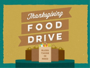 Thanksgiving Food Drive Christian Powerpoint Fall