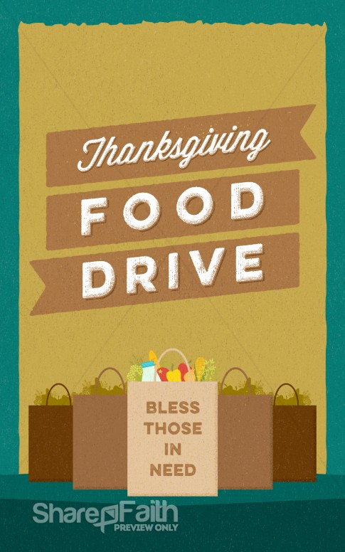 Thanksgiving Food Drive Christian Bulletin Thanksgiving