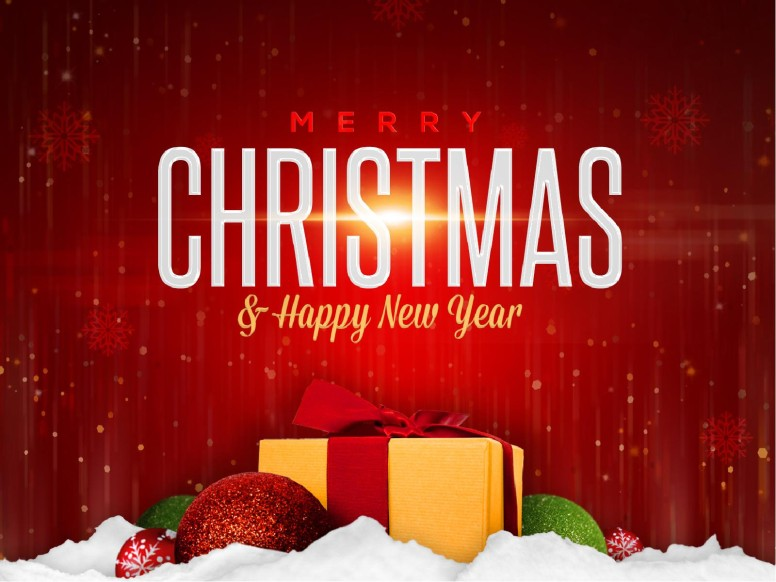 Merry Christmas Happy New Year Ministry PowerPoint