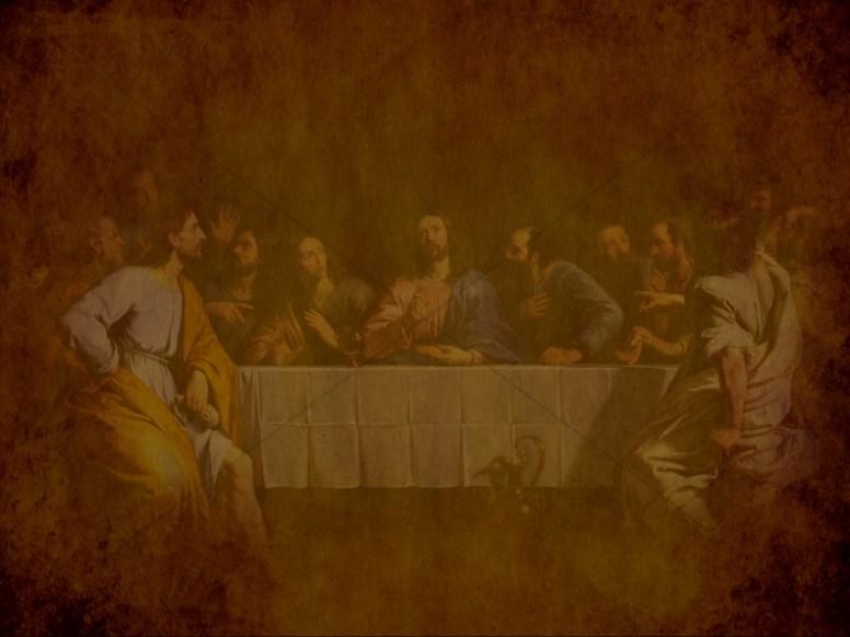 Last Supper Antiqued Art Religious Background
