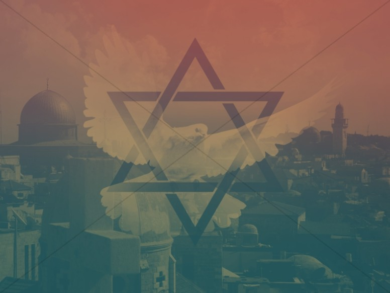 Pray for Peace Star of David Ministry Background