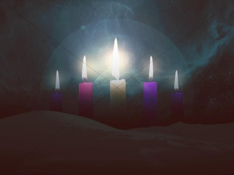 Advent Candles Church Wallpaper