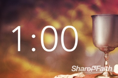 1 Minute 60 Seconds countdown timer communion Sunday video