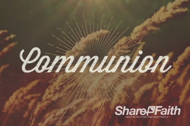 Fall Communion Video Loop for Church