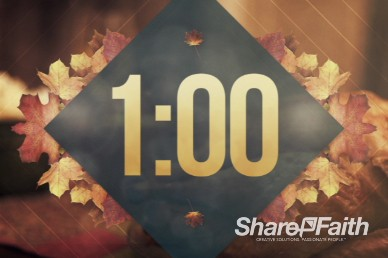 Fall 1 Minute Countdown Timer Video in 60 seconds countdown video loop