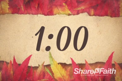 Come with Thanksgiving Christian One Minute Timer