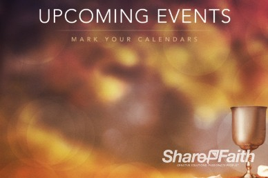 Upcoming Events Communion Cup Video Loop for Church