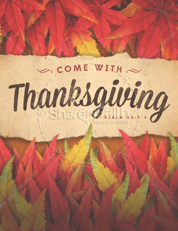 Come with Thanksgiving Christian Flyer